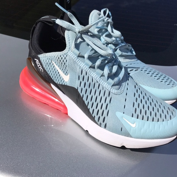 buy online b9151 47cf5 Nike air max 270 baby blue black white red coral